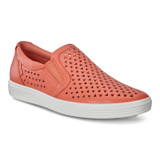ECCO Women's Soft 7 Laser Cut Slip-On - Apricot - 430813-01388 - Main Image