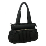 Sondra Roberts Quilted Puff Handbag - Black - Front