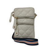 Sondra Roberts Phone Crossbody - Bone - Front