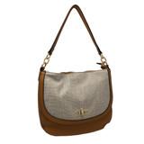 Sondra Roberts Textured Handbag - Cognac - Front