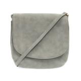 Joy Susan Jackie Large Flap Sueded Medium Crossbody Handbag - Dusty Blue - Profile 2