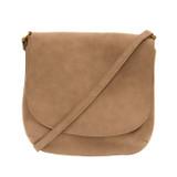 Joy Susan Jackie Large Flap Sueded Medium Crossbody Handbag - Camel - Profile 2