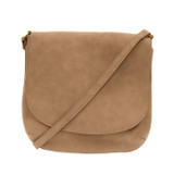 Joy Susan Jackie Large Flap Sueded Medium Crossbody Handbag - Camel - Profile 2