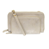 Joy Susan Brushed Mini Convertible Zip Wristlet - Metallic Silver - Profile