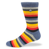 Sky Outfitters Crew Socks - Muted Rainbow - Profile