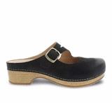 Dansko Women's Britney - Black Burnished Nubuck - 9422-471600 - Profile