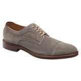Johnston & Murphy Men's Warner Perfed Cap Toe - Gray Suede - 20-2347 - Profile