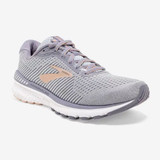 Brooks Women's Adrenaline GTS 20 - Grey / Pale Peach / White - 120296-073 - Angle