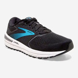 Brooks Women's Ariel 20 - Black / Ebony / Blue - 120315-064 - Angle