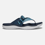 Keen Women's Solr Toe Post Sandal - Navy / Blue Mist - 1022510 - Profile