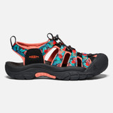 KEEN Women's Newport H2 - Black Multi / Coral - 1022796 - Profile