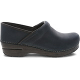 Dansko Women's Professional - Blue Oiled Pull Up - 306-547878 - Profile