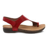 Dansko Women's Reece Sandal - Red Waxy Burnished - 6024-225300 - Profile