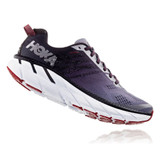 HOKA ONE ONE Men's Clifton 6 - Gull / Obsidian (Wide Width) - 1102876-GOBS - Profile