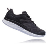 HOKA ONE ONE Men's Akasa - Black / Dark Shadow (Wide Width) - 1104112-BDSD - Profile