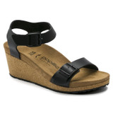 Birkenstock Papillio Women's Soley Wedge Sandal - Black - 1015828 - Main
