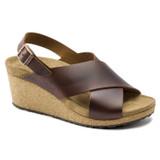 Birkenstock Papillio Women's Samira Wedge Sandal - Cognac - 1015829 - Angle