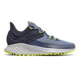 New Balance Women's Fresh Foam Roav Trail - Chambray with Eclipse - Profile Pic
