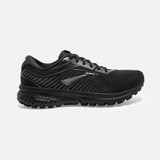 Brooks Women's Ghost 12 BLACK- Profile Pic