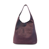 Joy Susan Molly Slouchy Hobo Handbag - Eggplant - Profile