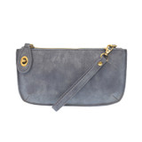 Joy Susan Lux Crossbody Wristlet Clutch - Dusty Blue - Profile