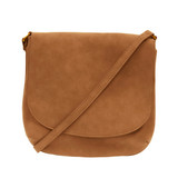 Joy Susan Jackie Large Flap Sueded Medium Crossbody Handbag - Profile