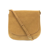 Joy Susan Jackie Large Flap Sueded Medium Crossbody Handbag - Khaki - Profile 2