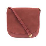 Joy Susan Jackie Large Flap Sueded Medium Crossbody Handbag - Brick - Profile 2