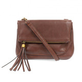 Joy Susan Alice Crossbody with Tassel Handbag - Chocolate - Profile
