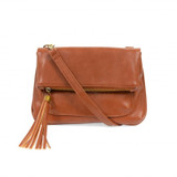 Joy Susan Alice Crossbody with Tassel Handbag - Cognac - Profile