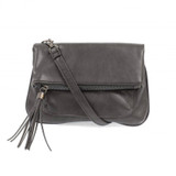 Joy Susan Alice Crossbody with Tassel Handbag - Charcoal - Profile