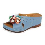 Sheridan Mia Women's Kiras Slide Sandal - Denim - KIRAS/JEANS - Angle