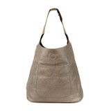Joy Susan Molly Slouchy Hobo Handbag - Pewter - Profile