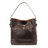 Joy Susan Python Sara Bucket Bag - Chocolate - Profile
