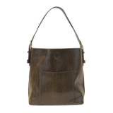 Joy Susan Python Sara Bucket Bag - Olive - Profile