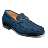 Stacy Adams Men's Norwood Moc Toe Bit Slip-On - Navy Suede - 25333-415 - Angle