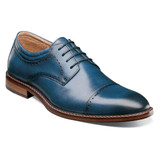 Stacy Adams Men's Flemming Cap Toe Oxford - Indigo - 25304-401 - Angle