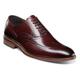 Stacy Adams Men's Dunbar Wingtip Oxford - Burgundy - 25064-601 - Angle