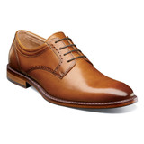 Stacy Adams Faulkner Plain Toe Oxford - Cognac - 25305-221 - Angle