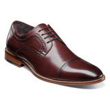 Stacy Adams Men's Dickinson Cap Toe Oxford - Burgundy - 25066-601 - Angle