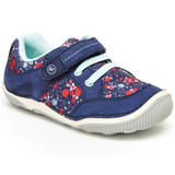 Stride Rite Srtech Rosie Sneaker (Toddler) - Navy / Floral SBGS190801- Profile