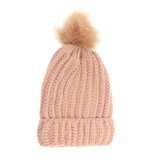 Joy Susan Knit Sparkle Pom Pom Hat - Blush - Profile