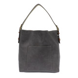 Joy Susan Classic Hobo Handbag - Slate Blue / Coffee - Front