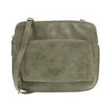 Joy Susan New Nicole Distressed Crossbody - Fern - Profile