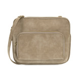 Joy Susan New Nicole Distressed Crossbody - Mist - Profile