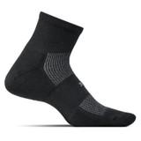 Feetures High Performance Ultra Light Cushion Quarter Socks - Black