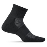 Feetures High Performance Ultra Light Cushion Quarter Socks - Black