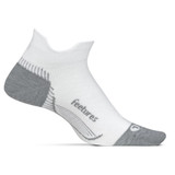 Feetures Plantar Fasciitis Relief Sock Ultra Light No Show Tab - White - PF55158