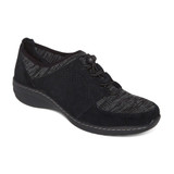 Aetrex Women's Casey Slip-On - Black - BB400 - Angle