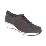 Aetrex Women's Casey Slip-On - Charcoal - BB406 - Angle